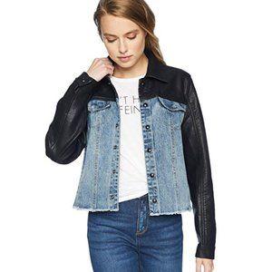 Blank NYC Moto Jacket Black Vegan Leather Small
